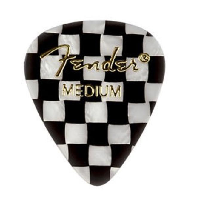 Fender - 351 Graphic Picks, Checker Medium, 12 Pack