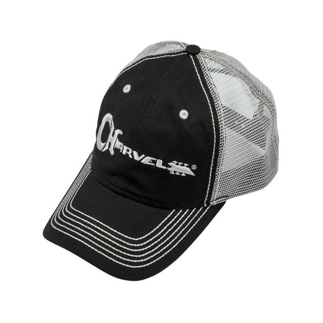 Charvel - Black & Ivory Trucker Hat w/White Charvel Logo
