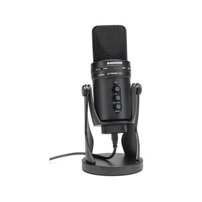 Samson - GTRACK PRO USB Studio Condenser Recording Mic, w/Aux input, headphone out