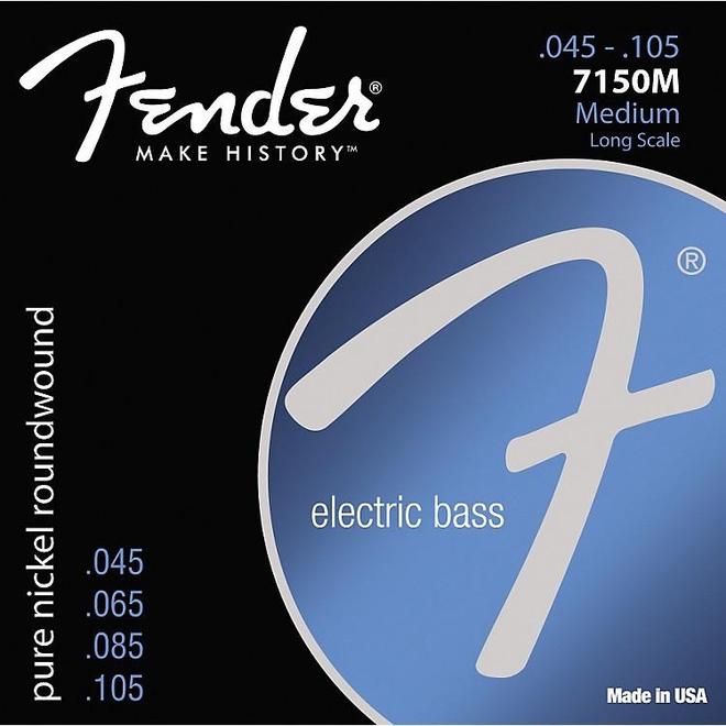 Fender - Pure Nickel Bass Strings, 45-105 Medium