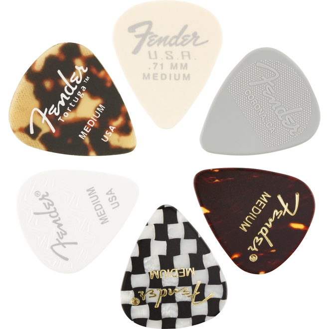 Fender - 351 Shape, Material Medley Pick Pack, Medium (6)