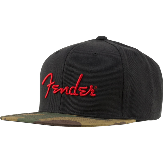 Fender - Camo Flatbill Hat, Camo, One Size Fits Most