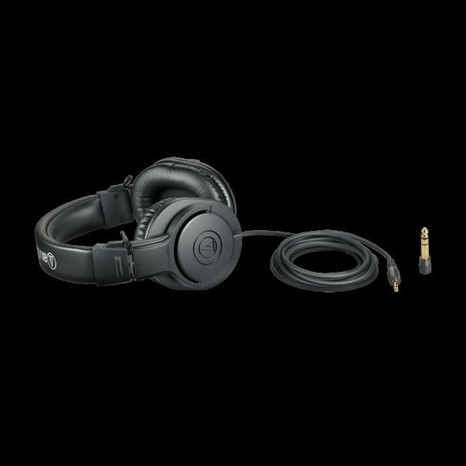 Audio Technica - Studio USB Condenser Microphone, w/boom arm & ATH-M20X Headphones