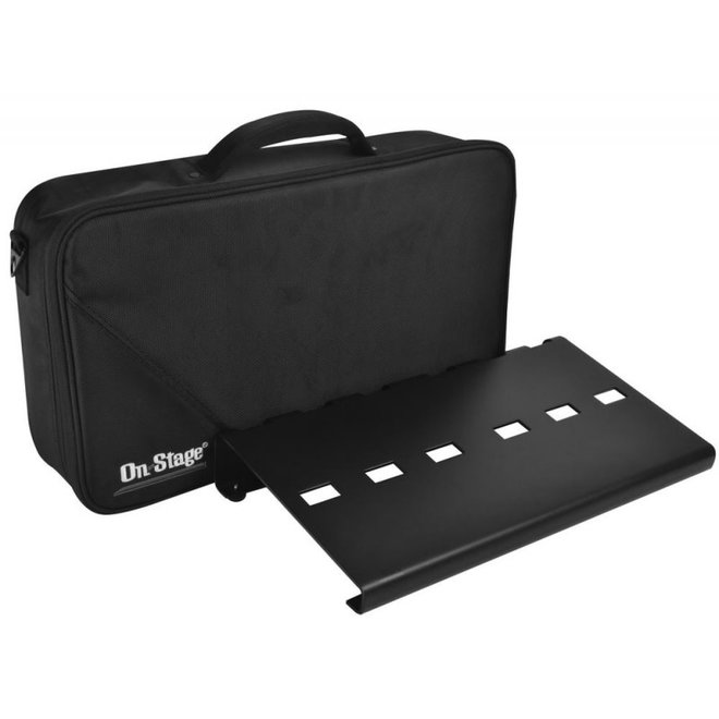 "On-Stage - Aluminum Pedalboard w/bag, 18.7"" × 9"""
