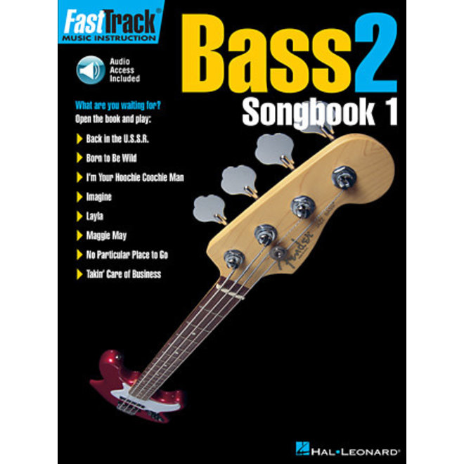 Hal Leonard - Fast Track: Bass 2, Songbook 1 w/CD