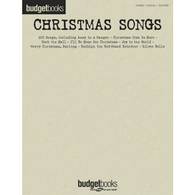 Hal Leonard - Budget Books, Christmas Songs (P/V/G)