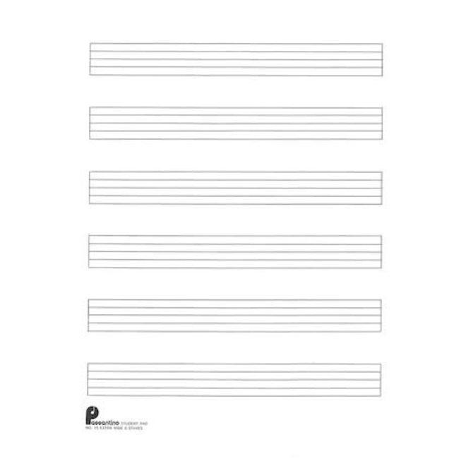 Hal Leonard - 6-Stave Extra Wide Manuscript Paper