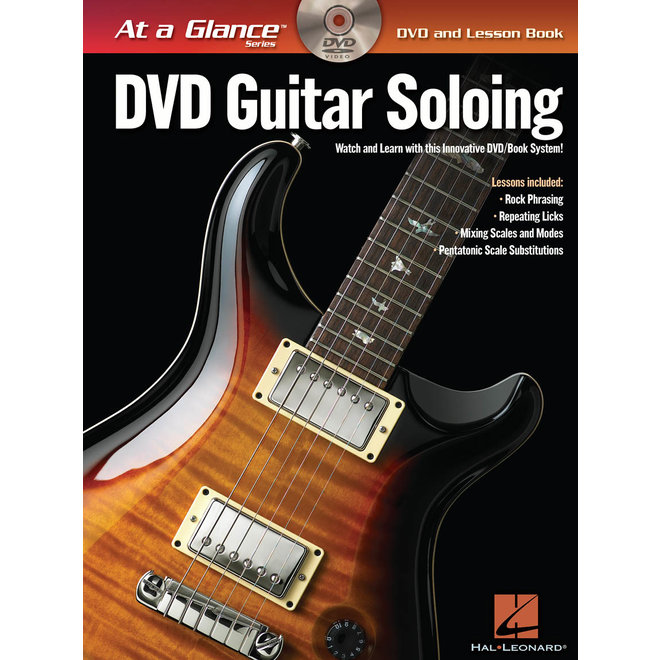 Hal Leonard - At a Glance Guitar Series, Book/DVD Pack, Guitar Soloing