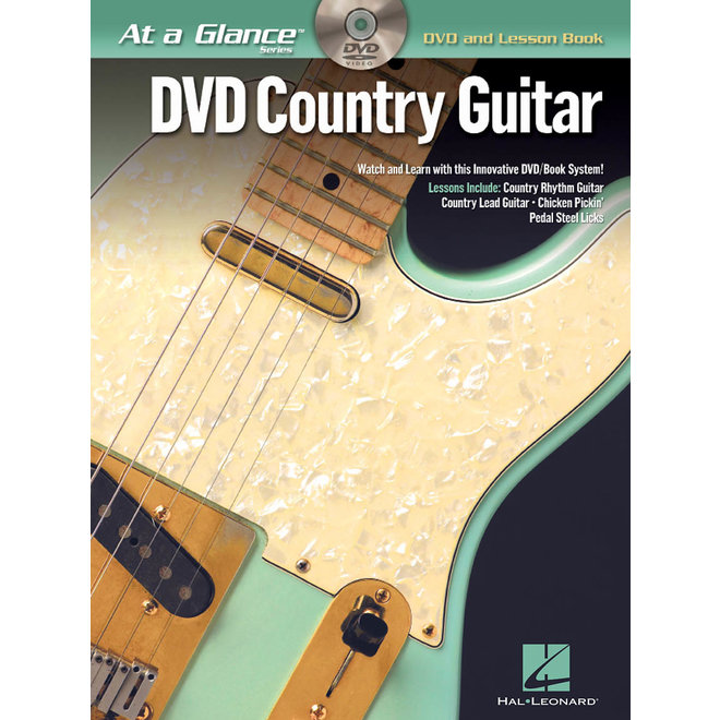 Hal Leonard - At a Glance Guitar Series, Book/DVD Pack, Country Guitar
