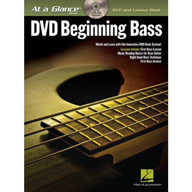Hal Leonard - At a Glance Bass Series, Book/DVD Pack, Beginning Bass