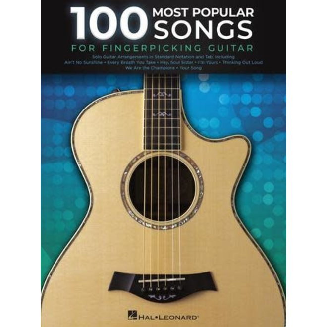 Hal Leonard - 100 Most Popular Songs for Fingerpicking Guitar, Notation & Tab