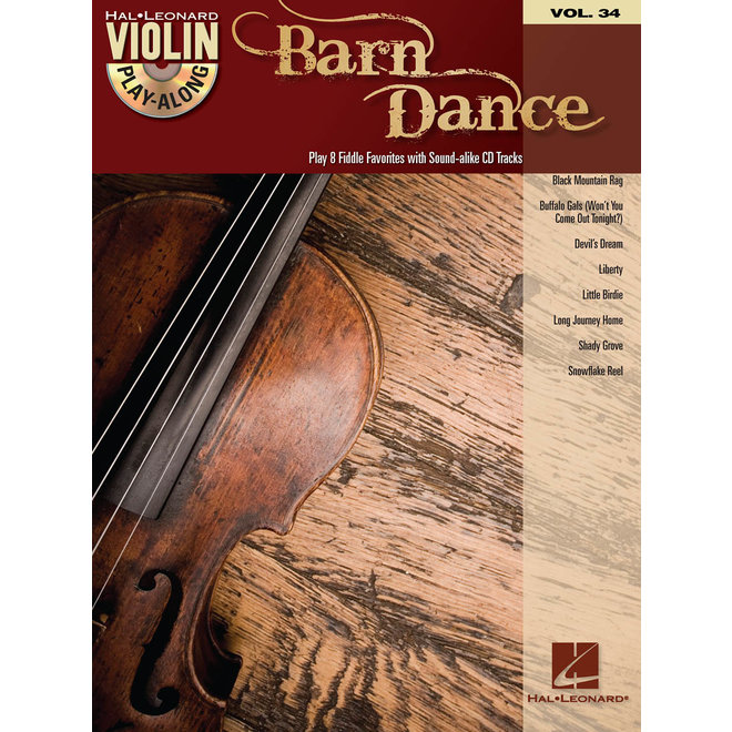 Hal Leonard - Barn Dance Volume 34 w/CD, Violin Play-Along