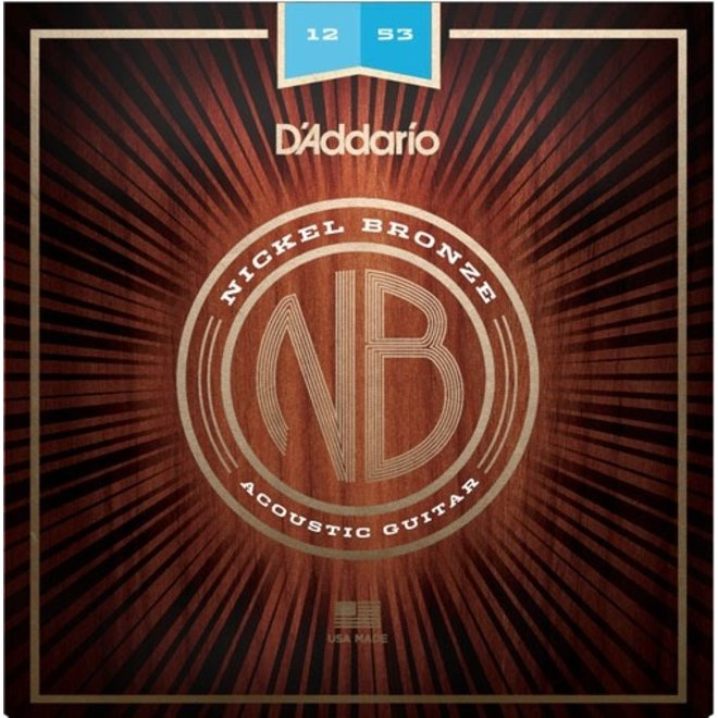 D'Addario - Nickel Bronze Acoustic Strings, 12-53 Light