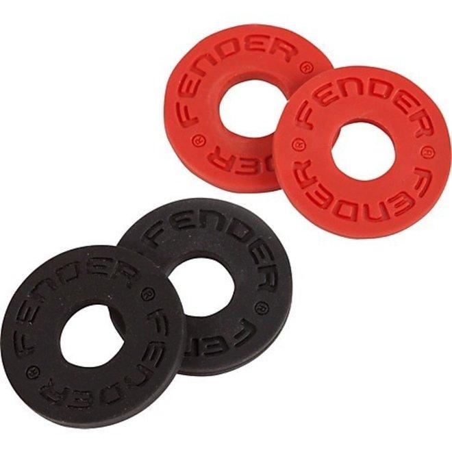 Fender - Strap Blocks (4 Pk), Black & Red