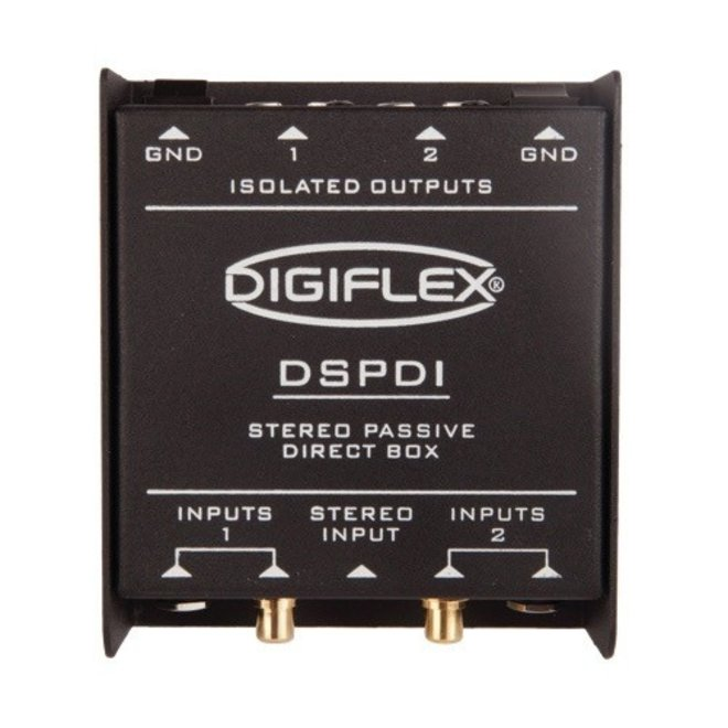 "Digiflex - DSPDI Stereo DI, w/RCA and 1/8"" inputs."