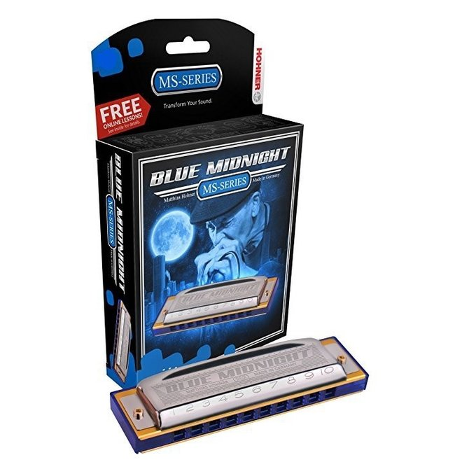 Hohner - Blue Midnight Harmonica, Bb