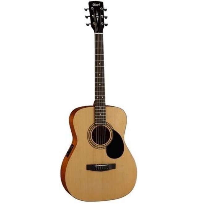 Cort - Concert Folk Acoustic w/ply top, Natural Satin, w/pickup