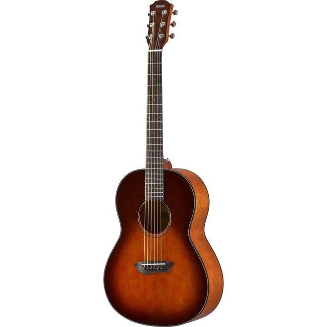 Yamaha - CSF1M Solid Top Parlour Guitar w/Pickup & Deluxe Gigbag, Tobacco Burst