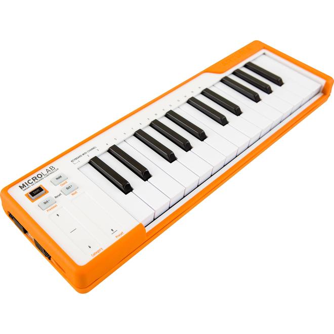 Arturia - MicroLab Compact 25-Key USB Midi Controller, Orange