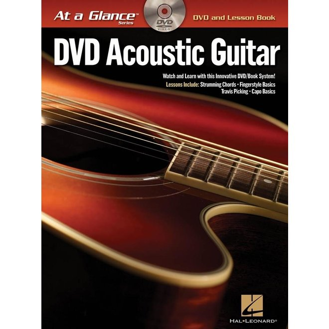 Hal Leonard - At a Glance Guitar Series, Book/DVD Pack, Acoustic Guitar