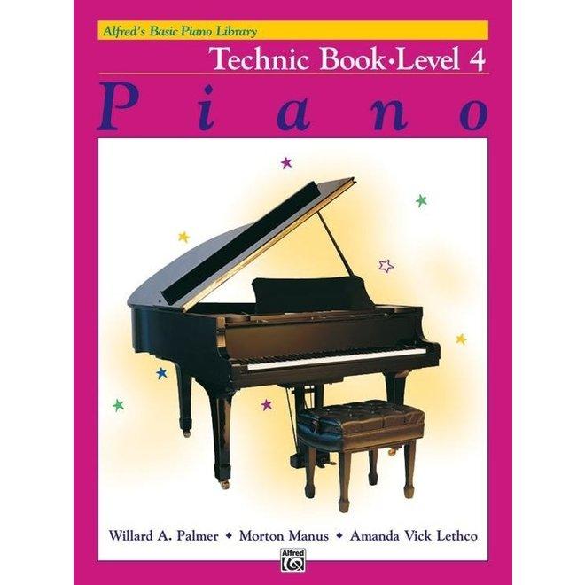 Alfred's - Basic Piano Course: Technic Book 4