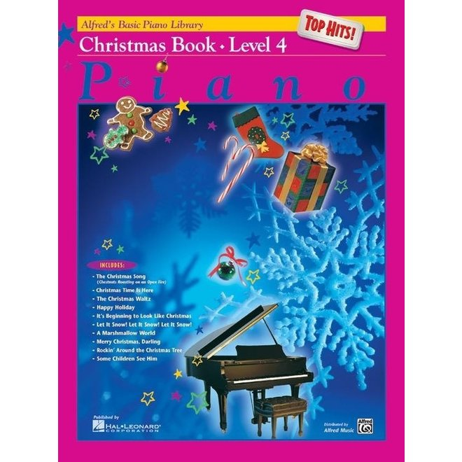 Alfred's - Basic Piano Course: Top Hits Christmas, Book 4