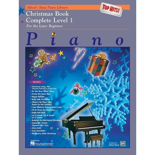 Alfred's - Basic Piano Course: Top Hits Christmas, Complete Level 1