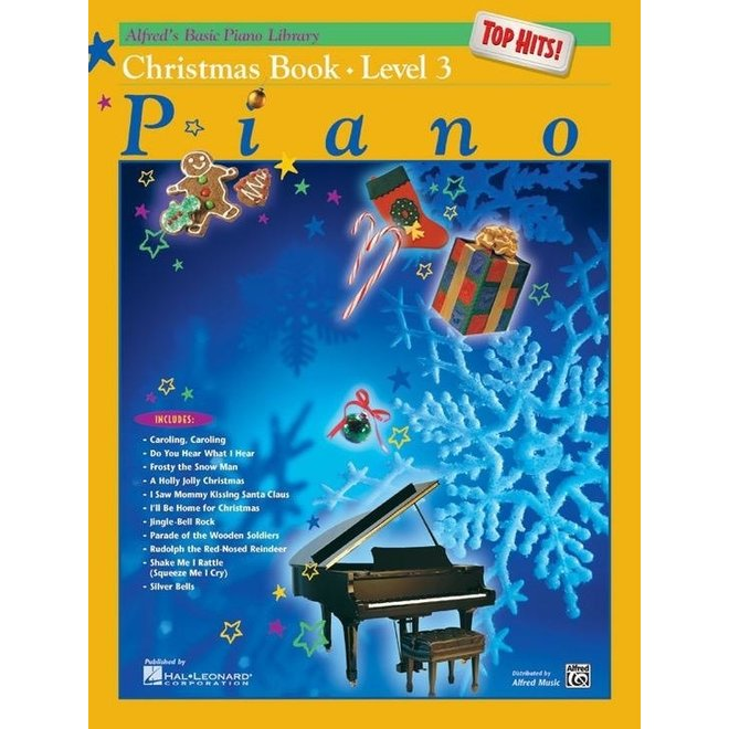 Alfred's - Basic Piano Course: Top Hits Christmas, Book 3