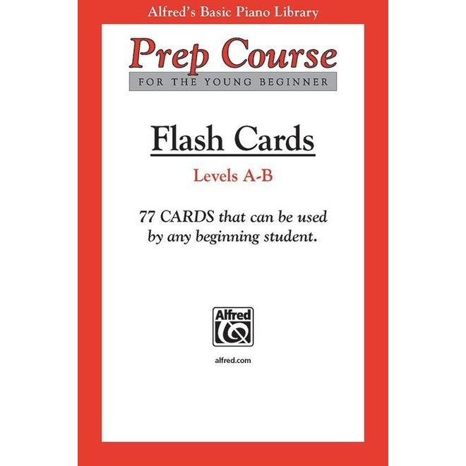 Alfred's - Basic Piano Prep Course: Flash Cards, Levels A & B