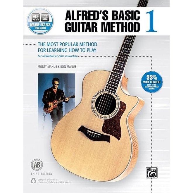 Alfred's - Basic Guitar Method, Book 1 w/media