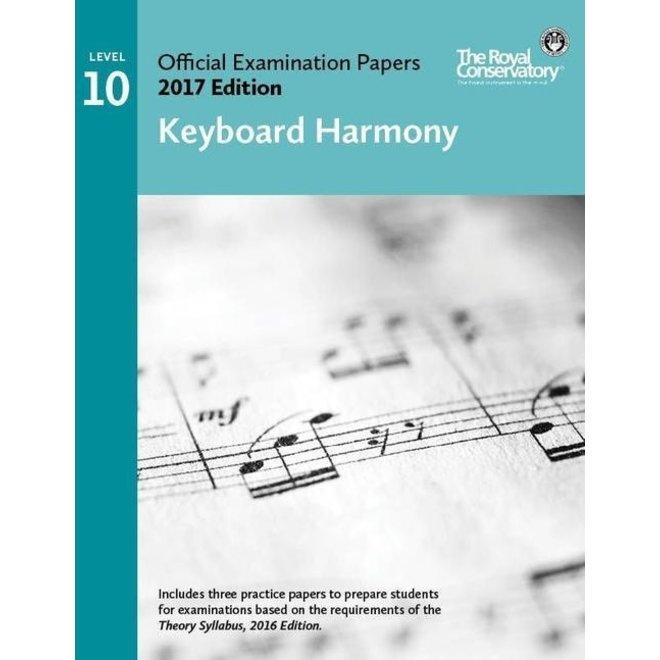 RCM - 2017 Examination Papers, Level 10 Keyboard Harmony
