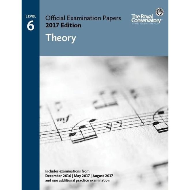 RCM - 2017 Examination Papers, Level 6 Theory