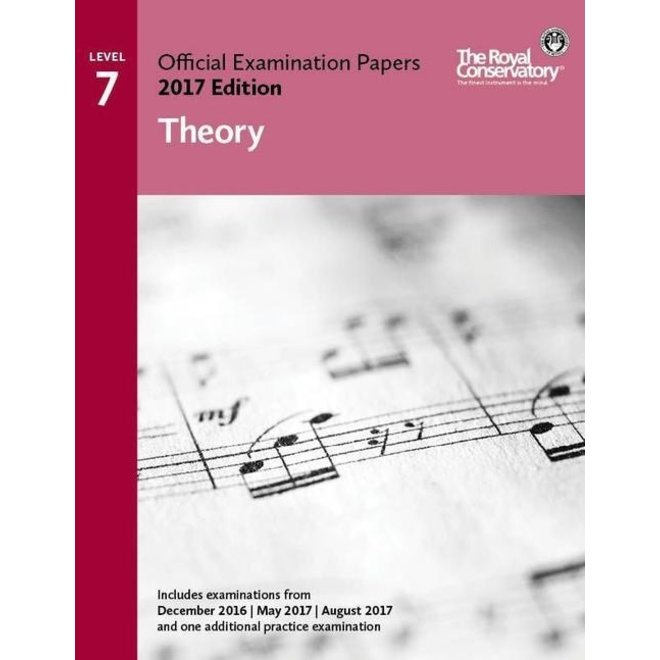 RCM - 2017 Examination Papers, Level 7 Theory