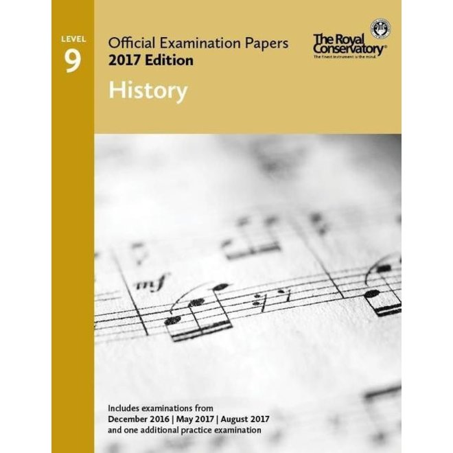 RCM - 2017 Examination Papers, Level 9 History