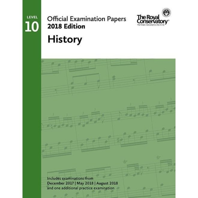 RCM - 2018 Examination Papers, Level 10 History