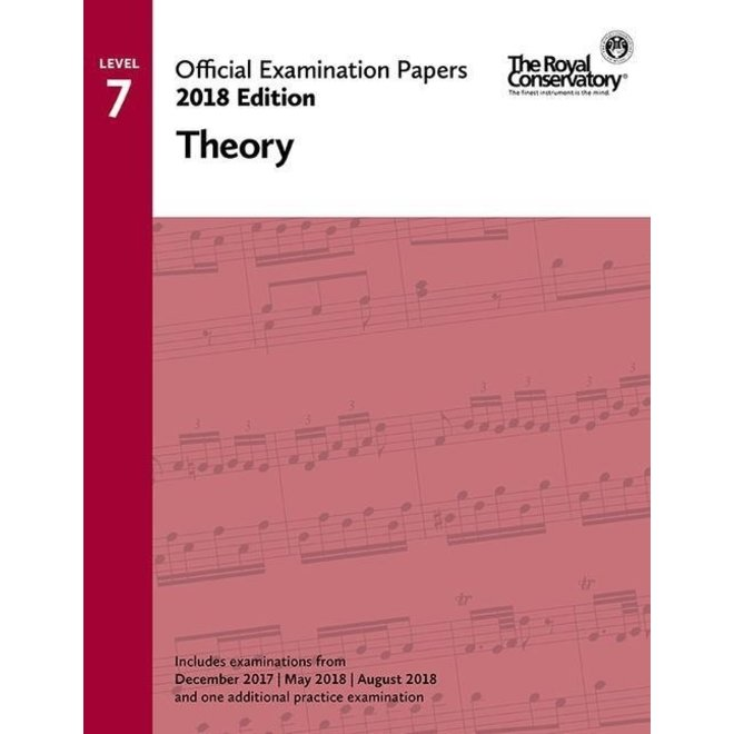 RCM - 2018 Examination Papers, Level 7 Theory