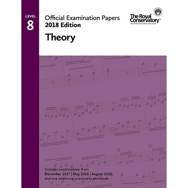 RCM - 2018 Examination Papers, Level 8 Theory