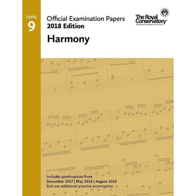 RCM - 2018 Examination Papers, Level 9 Harmony
