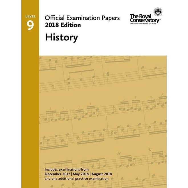 RCM - 2018 Examination Papers, Level 9 History