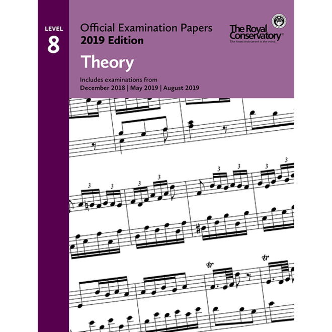 RCM - 2019 Examination Papers, Level 8 Theory