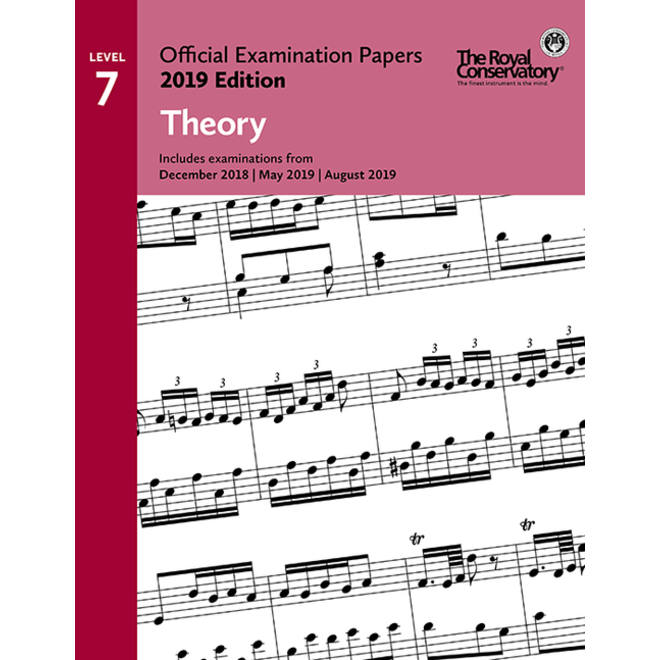 RCM - 2019 Examination Papers, Level 7 Theory