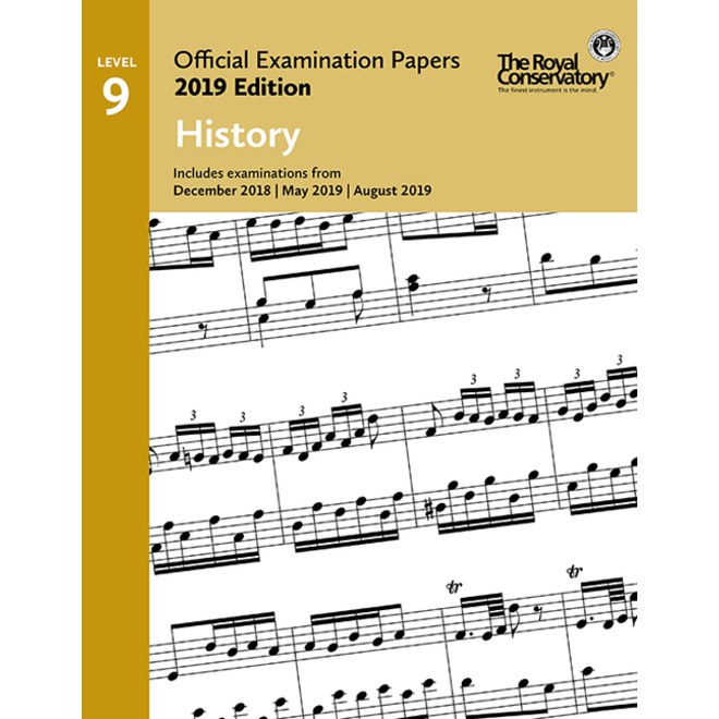 RCM - 2019 Examination Papers, Level 9 History