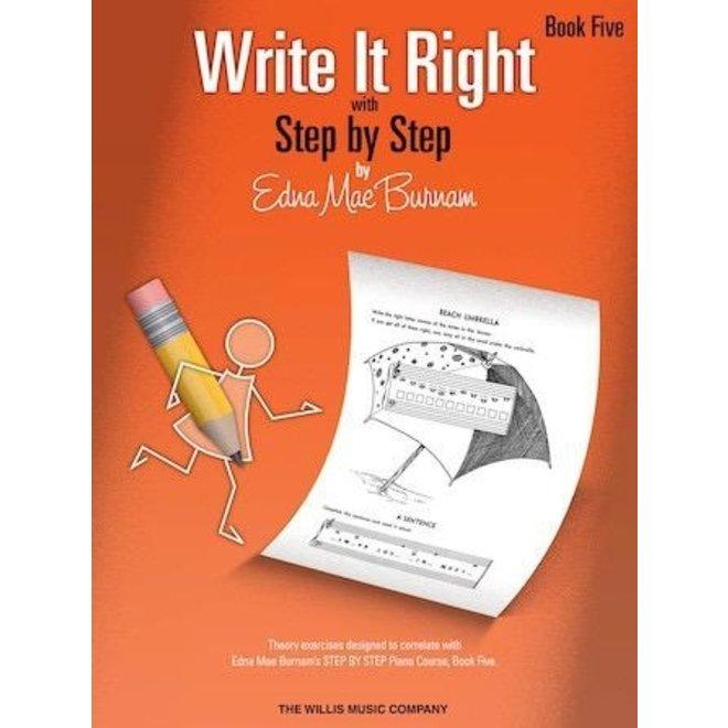 Hal Leonard - Write It Right, Book 5