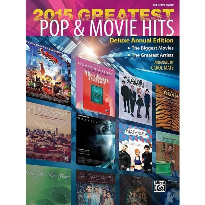 Alfred's - 2015 Greatest Pop & Movie Hits, Big Note
