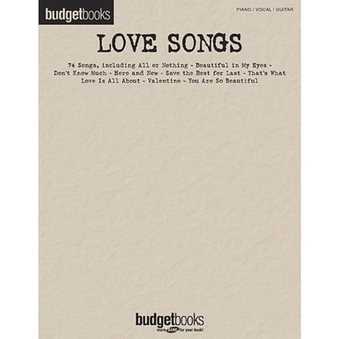 Hal Leonard - Budget Books, Love Songs