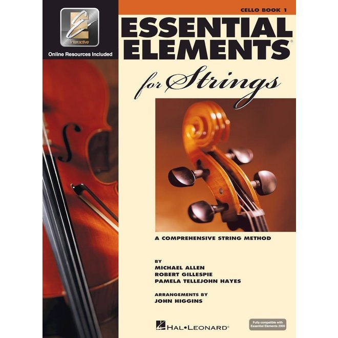 Hal Leonard - Essential Elements 2000 for Strings, Level 1 Cello w/CD&DVD