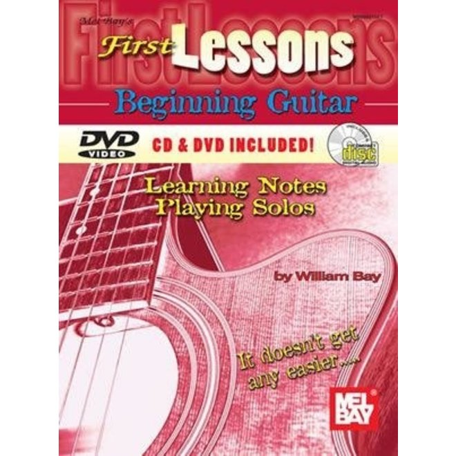 Mel Bay - First Lessons, Beginning Guitar (incl/DVD)