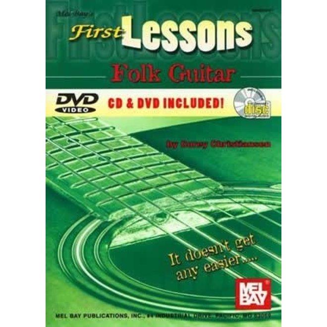 Mel Bay - First Lessons, Folk Guitar (incl/DVD)