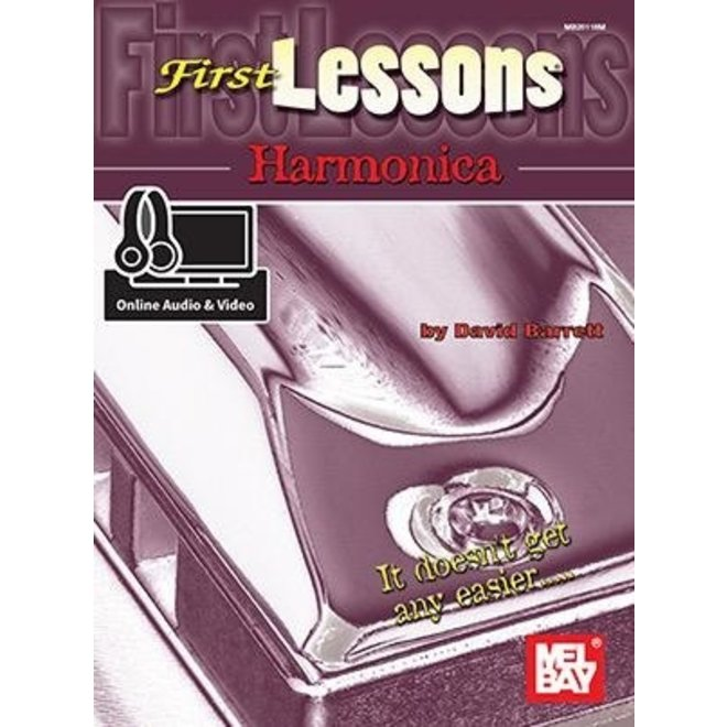 Mel Bay - First Lessons, Harmonica (w/online media)