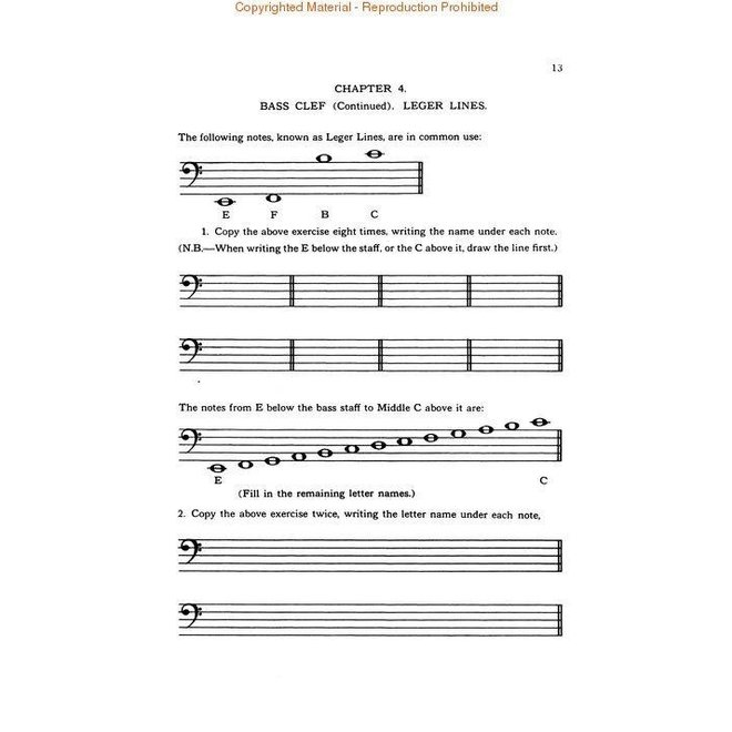 Cora B. Ahrens - Rudiments of Music, Book 2 Bass Clef